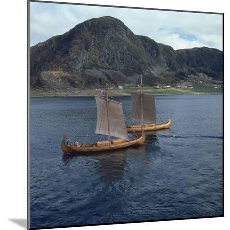 Replica Viking Ships, Oseberg and Gaia, Near Ulstenvik, Norway, Scandinavia, Europe-David Lomax-Mounted Photographic Print