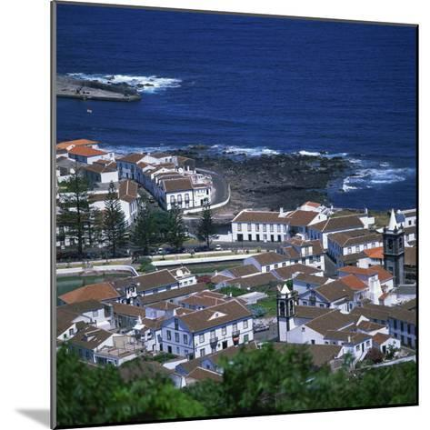 Houses and Coastline in the Town of Santa Cruz on the Island of Graciosa in the Azores, Portugal-David Lomax-Mounted Photographic Print