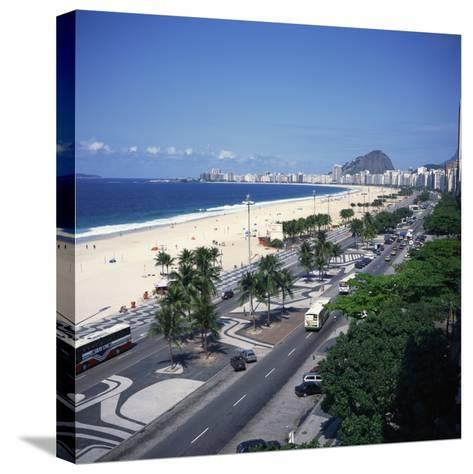 Overlooking Copacabana Beach, Rio De Janeiro, Brazil, South America-Geoff Renner-Stretched Canvas Print