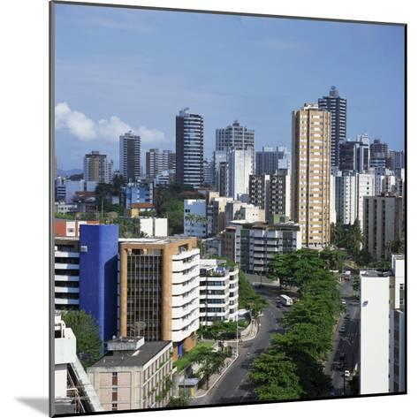 High Rise Buildings on the City Skyline of Salvador in Bahia State in Brazil, South America-Geoff Renner-Mounted Photographic Print