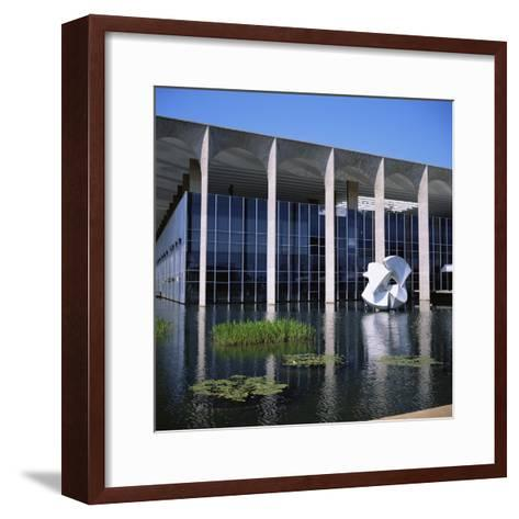 Palacio Do Itamaraty, Brasilia, UNESCO World Heritage Site, Brazil, South America-Geoff Renner-Framed Art Print