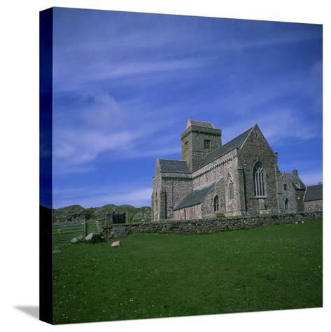 Abbey on Iona, Scotland, United Kingdom, Europe-Geoff Renner-Stretched Canvas Print