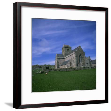 Abbey on Iona, Scotland, United Kingdom, Europe-Geoff Renner-Framed Art Print