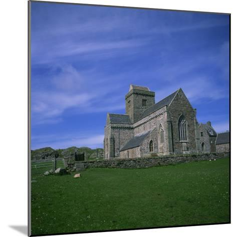 Abbey on Iona, Scotland, United Kingdom, Europe-Geoff Renner-Mounted Photographic Print