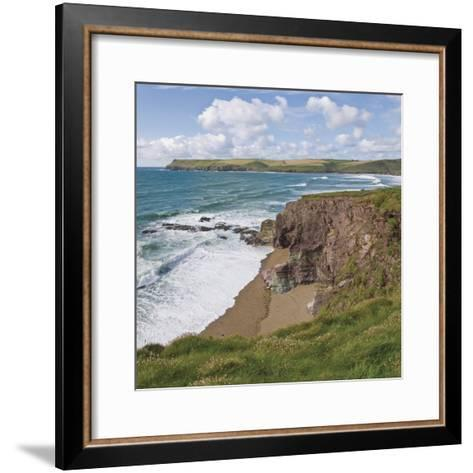 Coastal Footpath Between Haymer Bay Rock and Polzeath, Cornwall, England, United Kingdom, Europe-David Hughes-Framed Art Print
