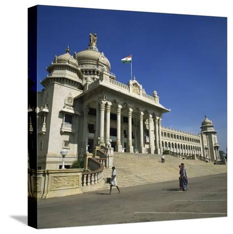 Vidhana Soudha, Bangalore, Karnataka State, India-Rolf Richardson-Stretched Canvas Print