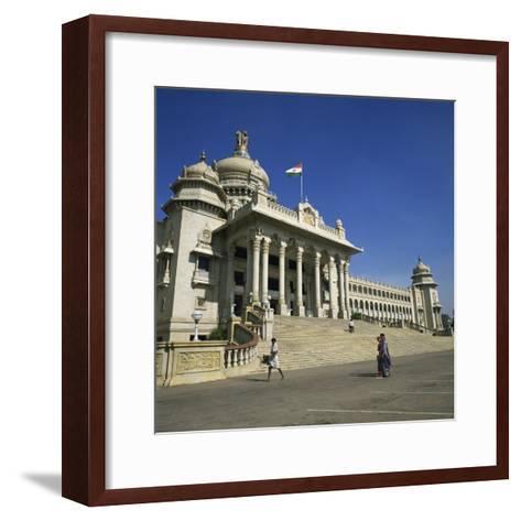 Vidhana Soudha, Bangalore, Karnataka State, India-Rolf Richardson-Framed Art Print