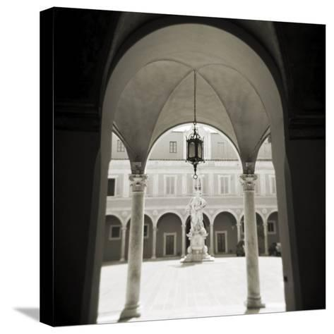 View Through Archways into Sunlit Courtyard, Pisa, Tuscany, Italy-Lee Frost-Stretched Canvas Print