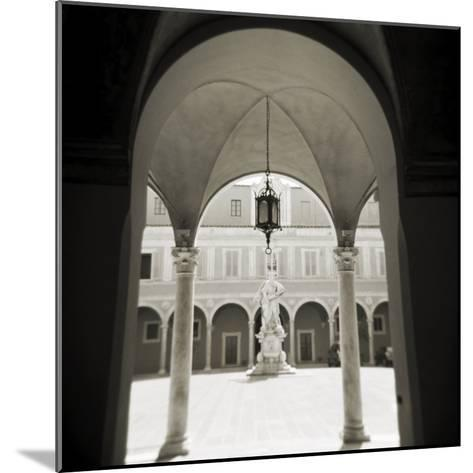 View Through Archways into Sunlit Courtyard, Pisa, Tuscany, Italy-Lee Frost-Mounted Photographic Print