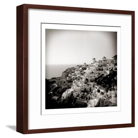 Polaroid of View of the Village of Oia, Santorini, Cyclades, Greek Islands, Greece, Europe-Lee Frost-Framed Art Print