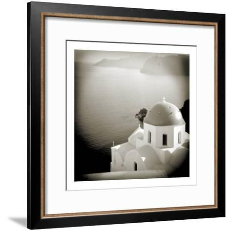 Polaroid of Domed Church, Oia, Santorini, Cyclades, Greek Islands, Greece, Europe-Lee Frost-Framed Art Print