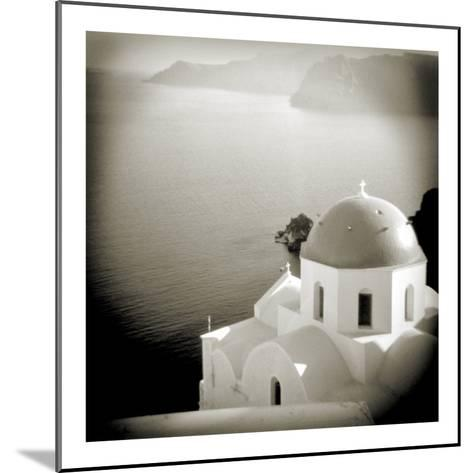 Polaroid of Domed Church, Oia, Santorini, Cyclades, Greek Islands, Greece, Europe-Lee Frost-Mounted Photographic Print