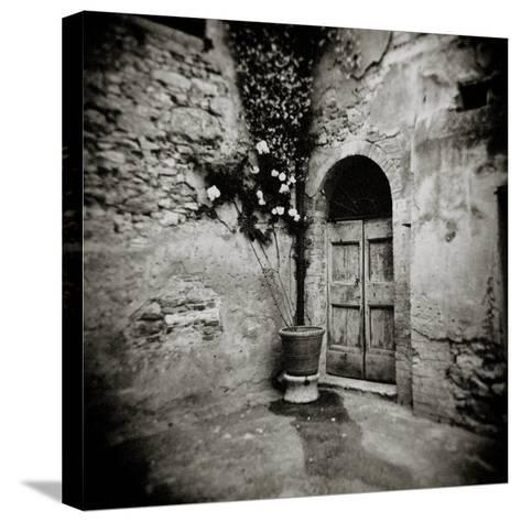 Corner of Quiet Square in Village of Lucignano D'Asso, Tuscany, Italy-Lee Frost-Stretched Canvas Print