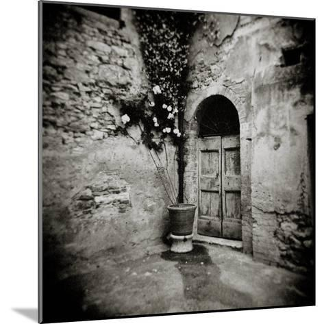 Corner of Quiet Square in Village of Lucignano D'Asso, Tuscany, Italy-Lee Frost-Mounted Photographic Print