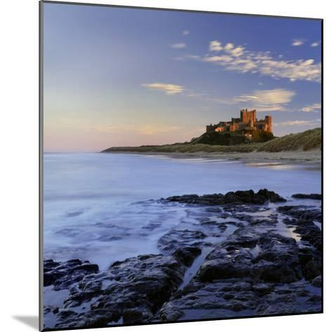 Bamburgh Castle Bathed in Warm Evening Light, Bamburgh, Northumberland, England, United Kingdom-Lee Frost-Mounted Photographic Print