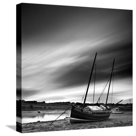 Aln Estuary at Low Tide, Alnmouth, Alnwick, Northumberland, England, UK-Lee Frost-Stretched Canvas Print