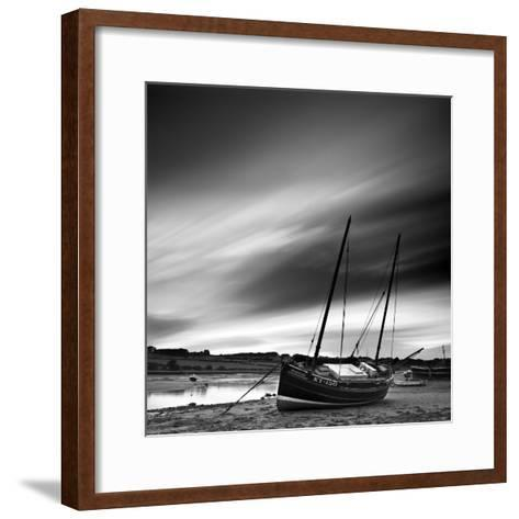 Aln Estuary at Low Tide, Alnmouth, Alnwick, Northumberland, England, UK-Lee Frost-Framed Art Print
