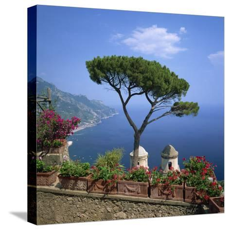 Garden of Villa Rufolo, Ravello, Amalfi Coast, UNESCO World Heritage Site, Campania, Italy, Europe-Roy Rainford-Stretched Canvas Print