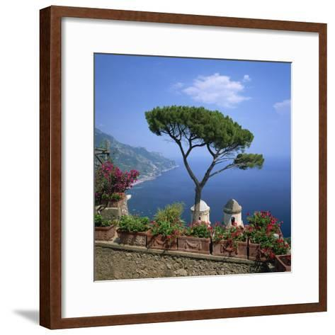 Garden of Villa Rufolo, Ravello, Amalfi Coast, UNESCO World Heritage Site, Campania, Italy, Europe-Roy Rainford-Framed Art Print