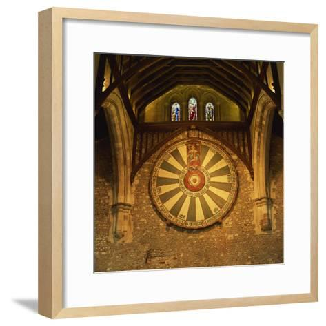 King Arthur's Round Table Mounted on Wall of Castle Hall, Winchester, England, United Kingdom-Roy Rainford-Framed Art Print