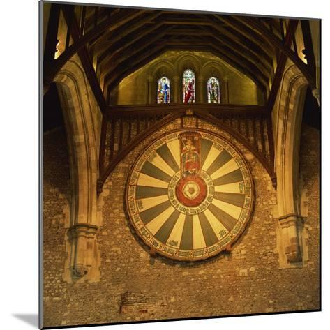 King Arthur's Round Table Mounted on Wall of Castle Hall, Winchester, England, United Kingdom-Roy Rainford-Mounted Photographic Print