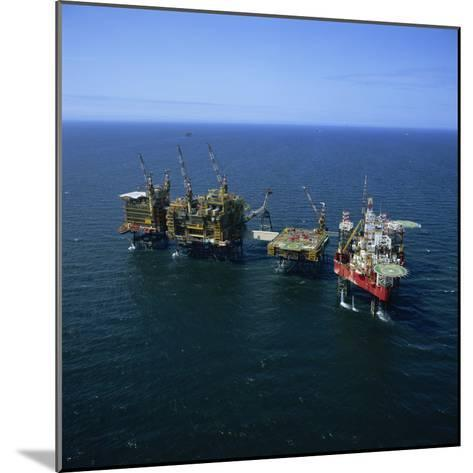 Seafox Drill Rig and Platform in the Sea at Morecambe Bay Gas Field, England, United Kingdom-Nick Wood-Mounted Photographic Print
