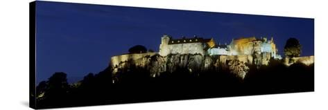 Stirling Castle at Night, Atop Castle Hill, from the Southwest, Stirling, Scotland, United Kingdom-Patrick Dieudonne-Stretched Canvas Print