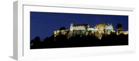 Stirling Castle at Night, Atop Castle Hill, from the Southwest, Stirling, Scotland, United Kingdom-Patrick Dieudonne-Framed Art Print