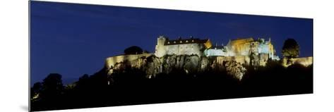 Stirling Castle at Night, Atop Castle Hill, from the Southwest, Stirling, Scotland, United Kingdom-Patrick Dieudonne-Mounted Photographic Print