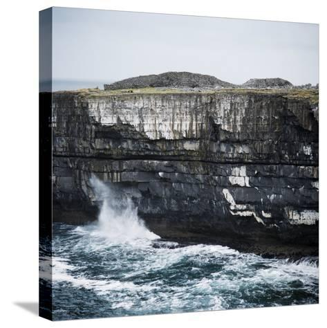 Black Fort, Aran Islands, County Galway, Connacht, Republic of Ireland, Europe-Andrew Mcconnell-Stretched Canvas Print