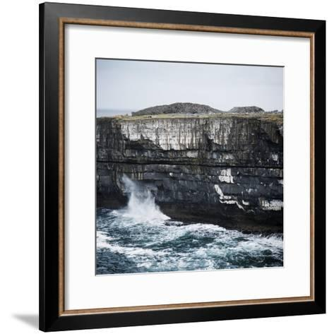 Black Fort, Aran Islands, County Galway, Connacht, Republic of Ireland, Europe-Andrew Mcconnell-Framed Art Print