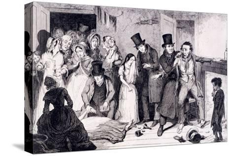 The Husband Kills the Wife, London, England, 1847-George Cruikshank-Stretched Canvas Print