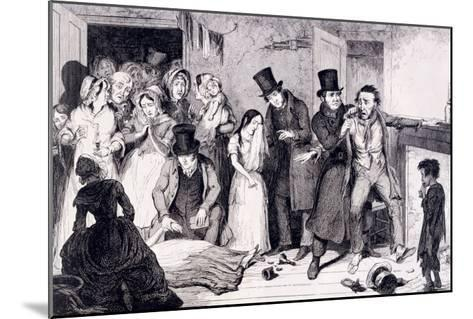 The Husband Kills the Wife, London, England, 1847-George Cruikshank-Mounted Giclee Print