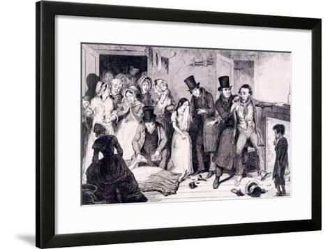 The Husband Kills the Wife, London, England, 1847-George Cruikshank-Framed Art Print