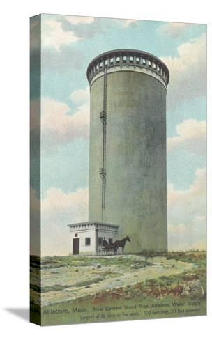 Water Tower, Attleboro, Massachusetts--Stretched Canvas Print