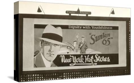 Hats Billboard--Stretched Canvas Print
