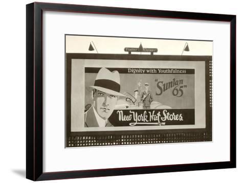 Hats Billboard--Framed Art Print