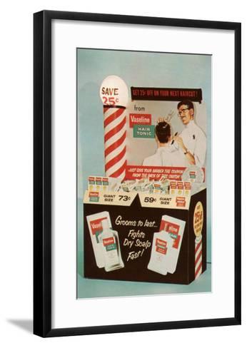 Barber Coupons--Framed Art Print