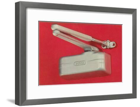 Door Closer Damper--Framed Art Print
