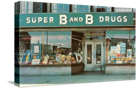 Store Front Drug Store--Stretched Canvas Print