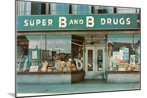 Store Front Drug Store--Mounted Art Print