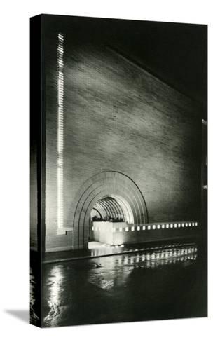 Semi-Circular Entrance--Stretched Canvas Print