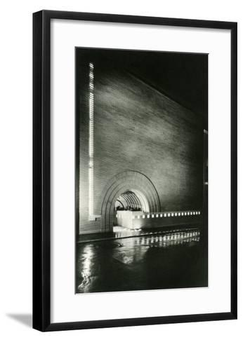 Semi-Circular Entrance--Framed Art Print