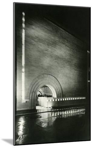 Semi-Circular Entrance--Mounted Art Print