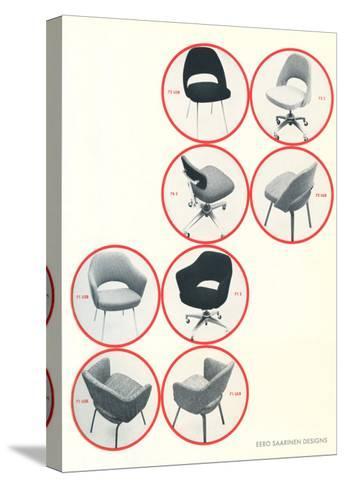 Eero Saarinen Chairs--Stretched Canvas Print