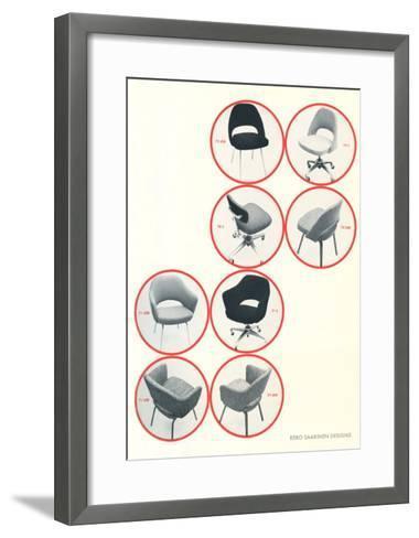 Eero Saarinen Chairs--Framed Art Print