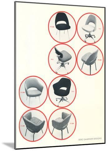 Eero Saarinen Chairs--Mounted Art Print