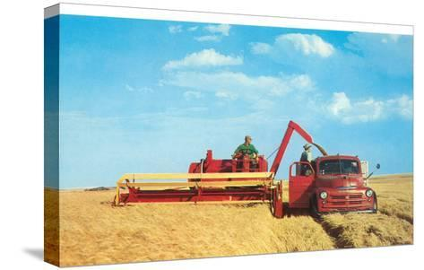 Mechanized Harvester--Stretched Canvas Print
