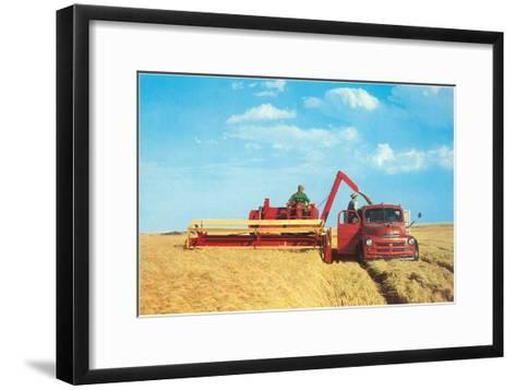 Mechanized Harvester--Framed Art Print