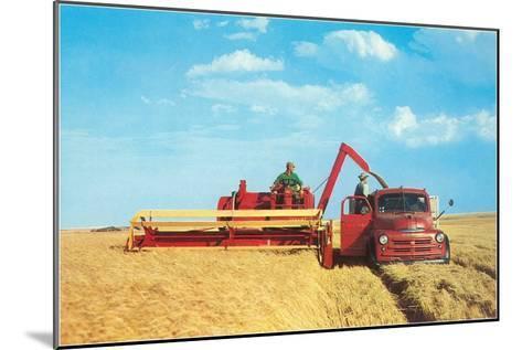 Mechanized Harvester--Mounted Art Print